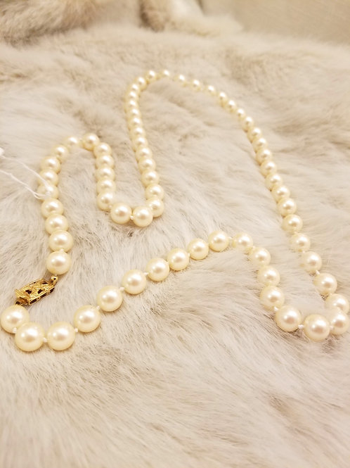 Monet Glass Pearl Necklace