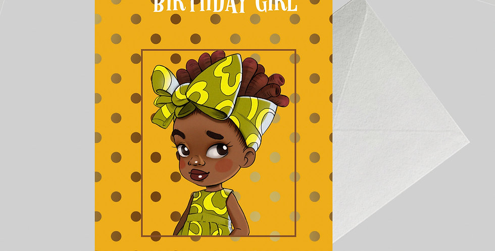 Afrocentric Birthday Card for Girls