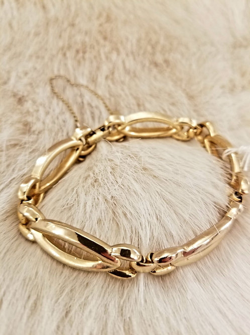 Monet Gold Hinge Bracelet