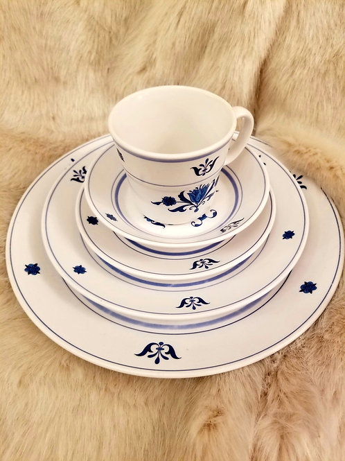 Noritake Blue Haven Place and Table Settings China Set