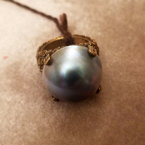 Vintage Stephen Dweck Pearl Cocktail Ring