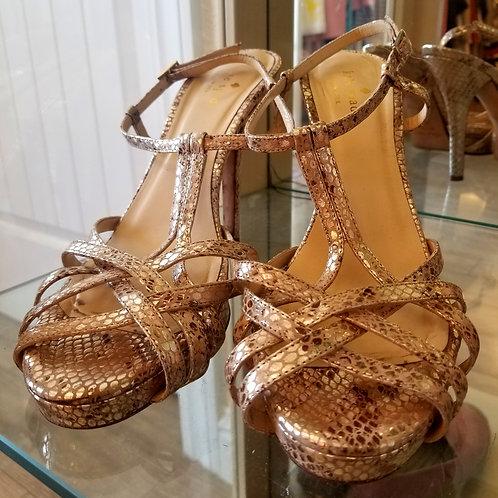 Kate Spade Snakeskin Textured Sandals