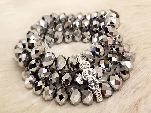 Glass Cluster Bracelet