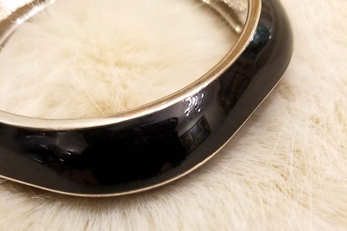 Chunky Enamel Hinged Bangle