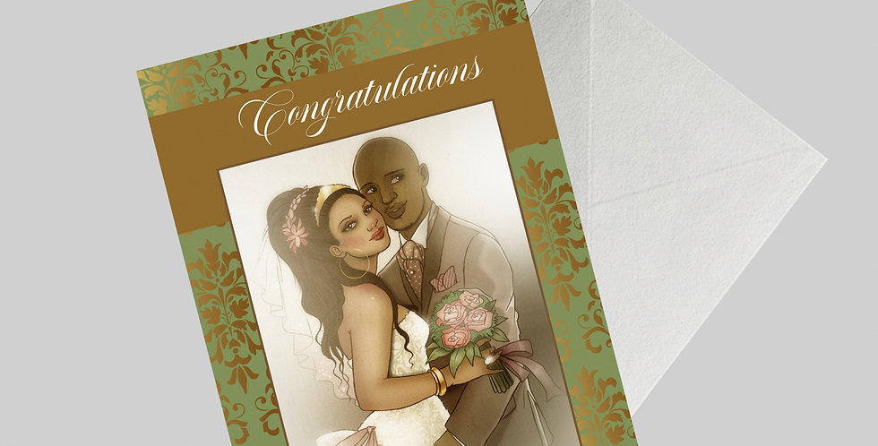 Afrocentric Wedding Card
