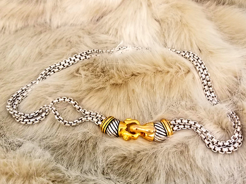 Gold-Clasped Link Necklace