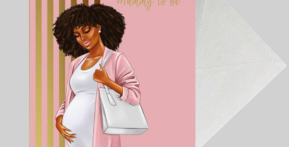 Afrocentric Baby Shower Card -BS05 A5