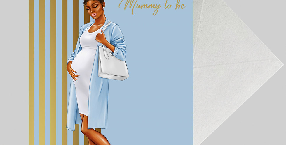 Afrocentric Baby Shower Card - BS02 A5