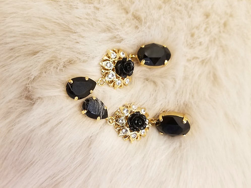 New Dolce and Gabbana Crystal Pendant Earrings