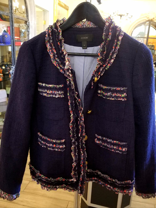 Vintage J Crew Tweed Blazer with Liberty Trim