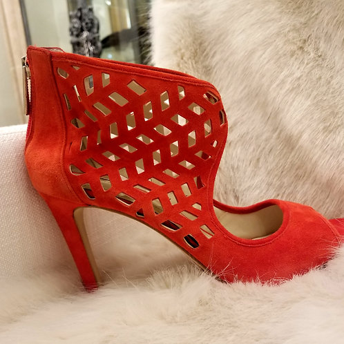 BCBG Red Lattice Heels