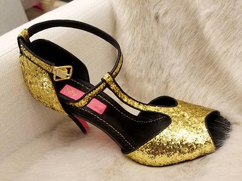 Betsey Johnson Gold Heels