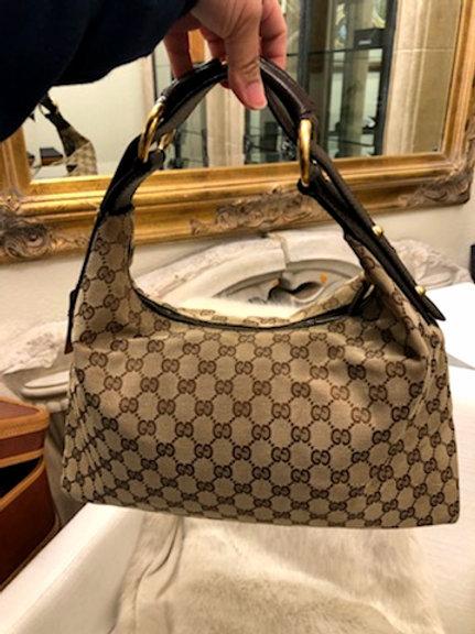 Vintage Gucci Horse Bit Hobo-Style Bag