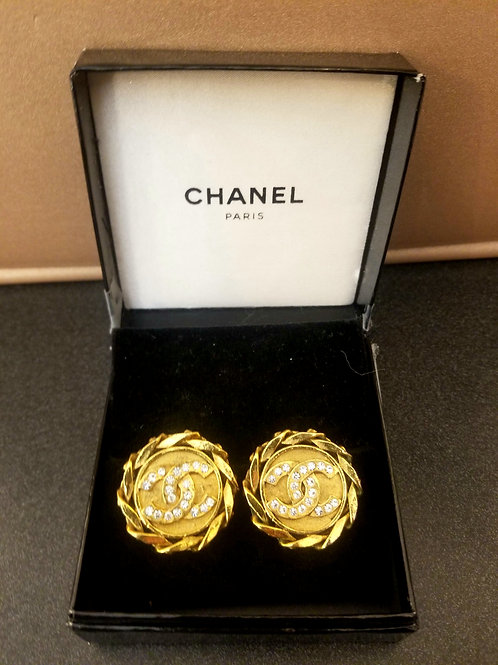 Vintage Chanel Logo Clip Ons