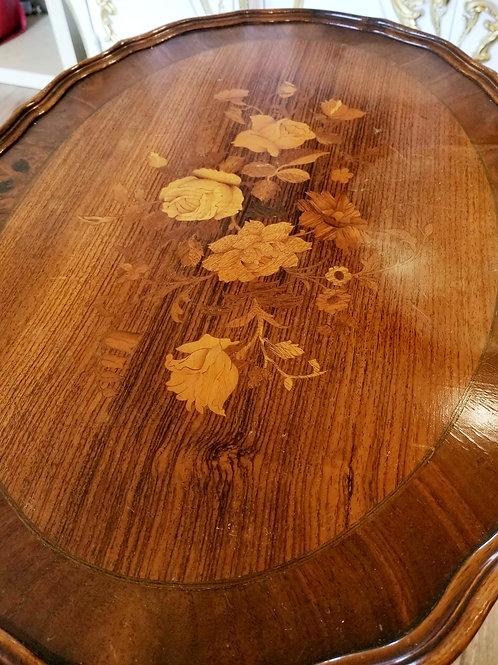 Vintage Rose Veneer-Topped Side Table