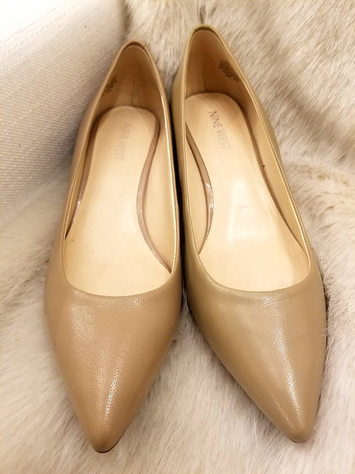 New Nine West Nude Heels