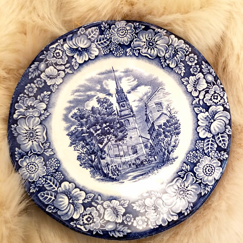Liberty Blue Plate Set