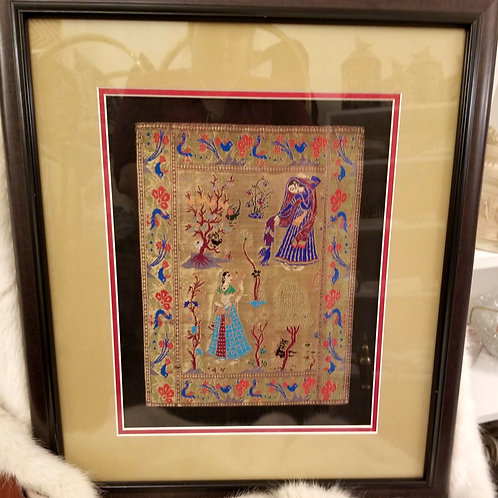 Indian-Influenced Tapestry Piece