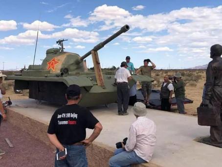 RFA自由亚洲电台--6.4坦克人雕塑在南加州自由雕塑公園落成