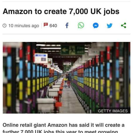 網購龍頭Amazon受惠於疫情影響,網上銷售大幅增長