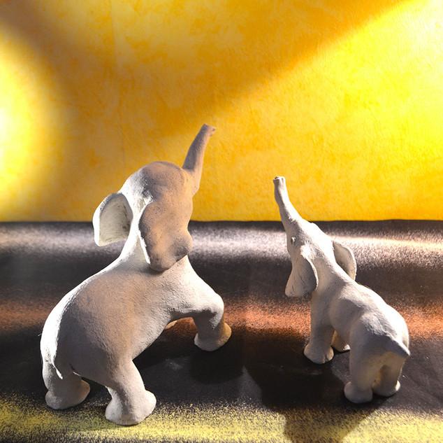 Réalisations d'éléphants.