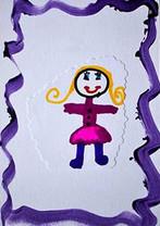 Un dessin, collage par une enfant.