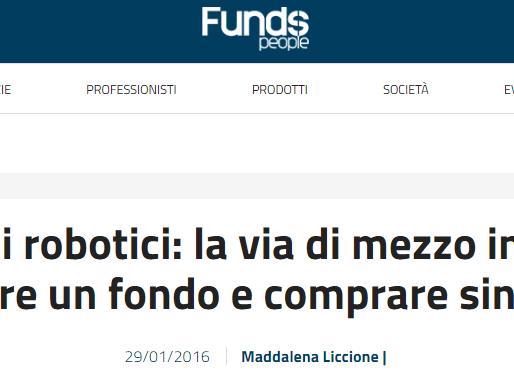 La rivista finanziaria Funds People parla degli ecosistemi robotici di Andrea Forni