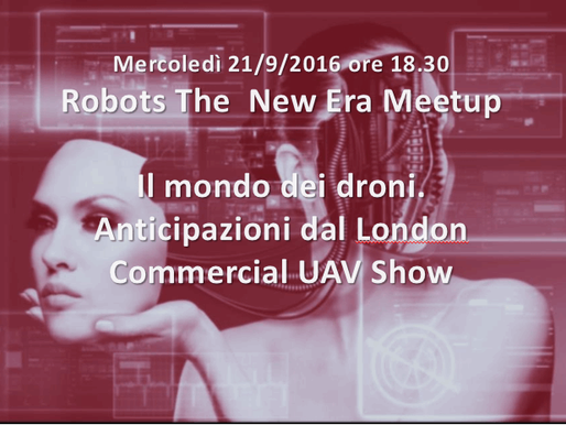 RobotsTheNewEra Meetup hosts Andrea Forni's webinar on Investing in the Drone Ecosystem - full v