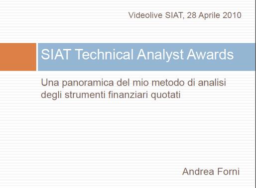 """SIAT ospita Andrea Forni con il webinar """"SIAT Technical Analyst Award: una panoramica del mio m"""