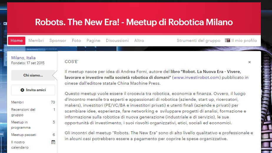 Meetup di Robotica - Iscriviti cliccando qui