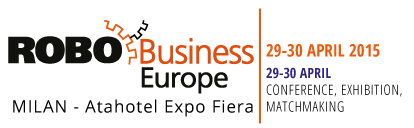 Andrea Forni keynote speaker at RoboBusiness Europe 2015. Storytelling and slide deck