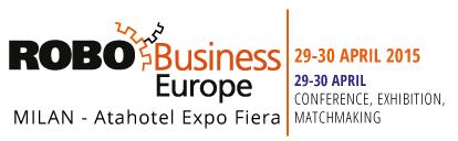 Andrea Forni keynote speaker at RoboBusiness Europe 2015. Storytelling and slide deck