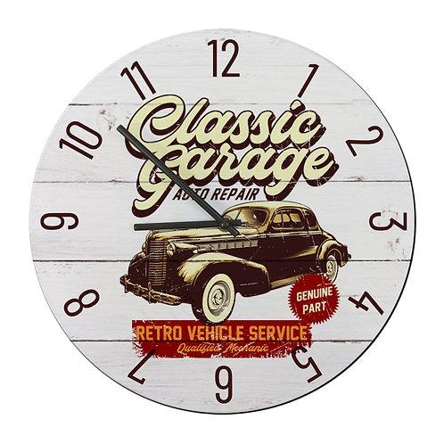 "Ceas de perete rotund ""Classic Garage"""