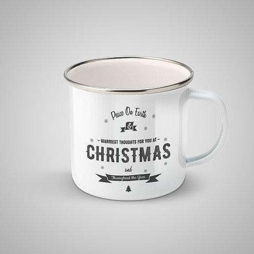 """Cană metalică emailată """"Christmas Mug"""""""