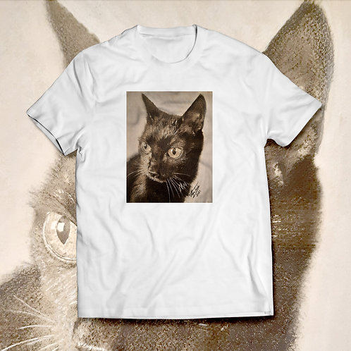 """Tricou cu grafică """"The Cat"""" regular"""