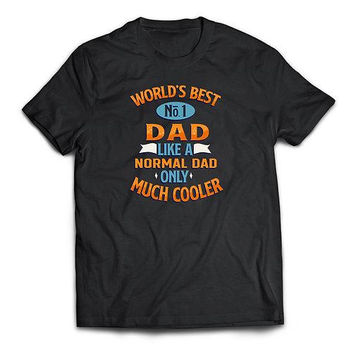 """Tricou """"World's Best No.1 Dad"""""""