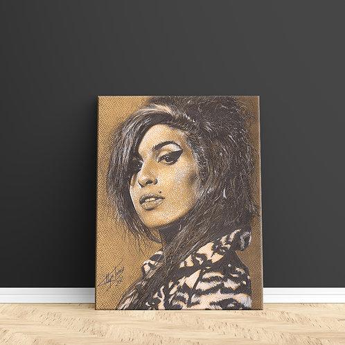 "Tablou Canvas ""Amy Winehouse"" 40x50cm"