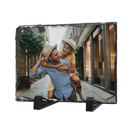 Ramă foto ardezie  cu poză și/sau mesaj 20x15cm