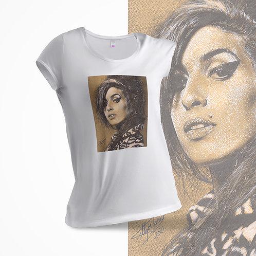 """Tricou damă, cu grafică """"Amy Winehouse"""""""