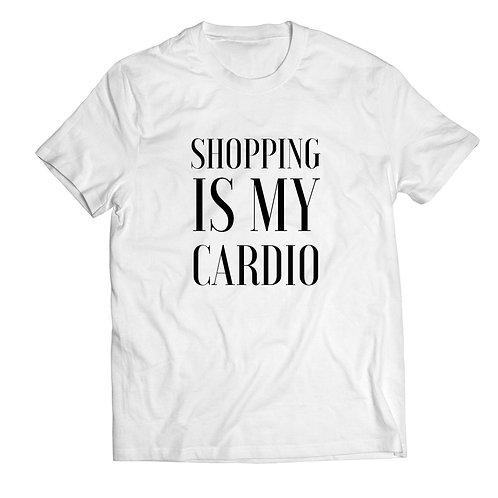 "Tricou ""Shopping Is My Cardio"" Slim/Regular"