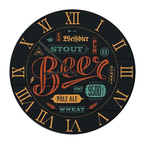 """Ceas de perete rotund """"Beer"""""""