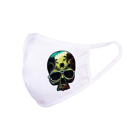 Mască Reggae Skull Albă