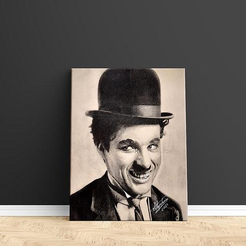 """Tablou Canvas """"Charlie Chaplin"""" 40x50cm"""
