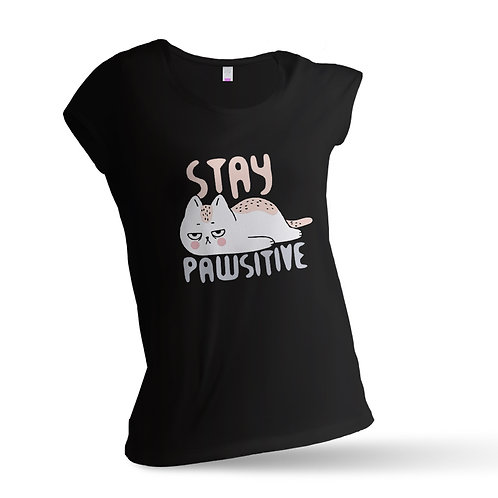 "Tricou ""Stay Pawsitive"""