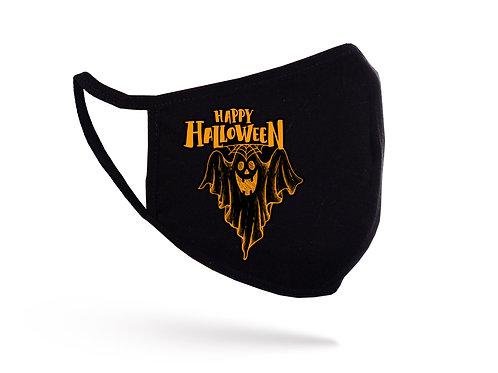 Mască Happy Halloween neagră