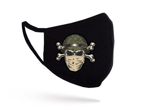 Acoperitoare facială Soldier Skull  neagră