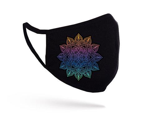 Mască Mandala gradient neagră