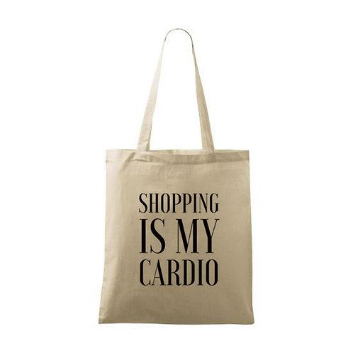 "Sacoșă personalizată ""Shopping is my Cardio"""