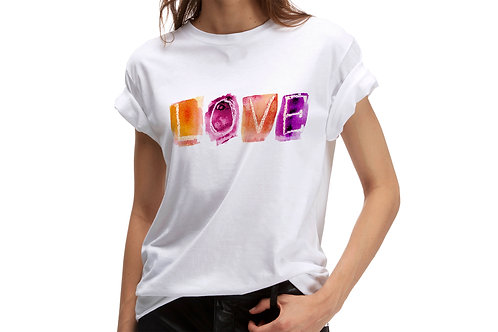 "Tricou ""Watercolor love"""