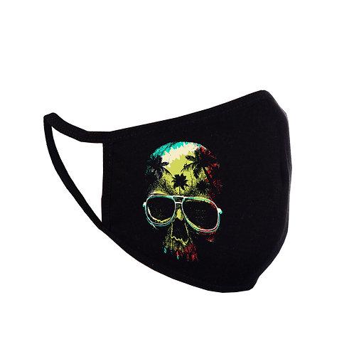 Acoperitoare facială Reggae Skull neagră